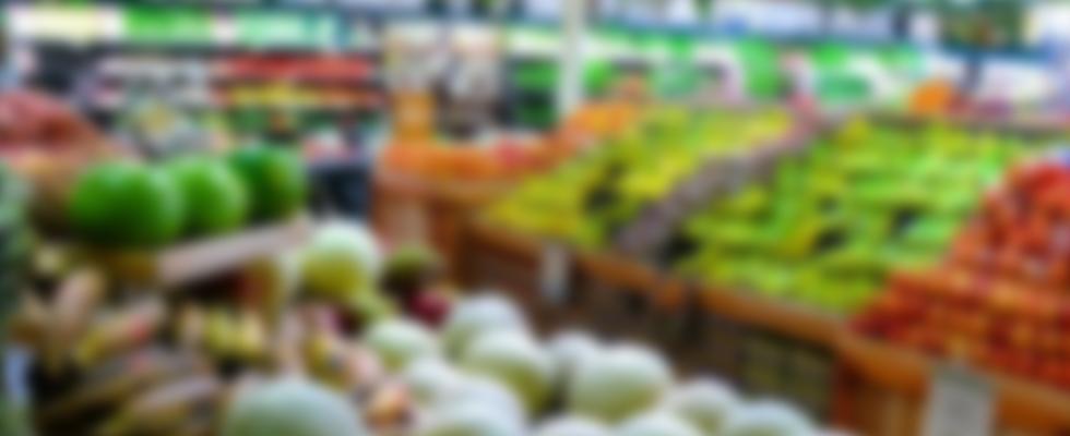 Bakgrund grönsaksaffär